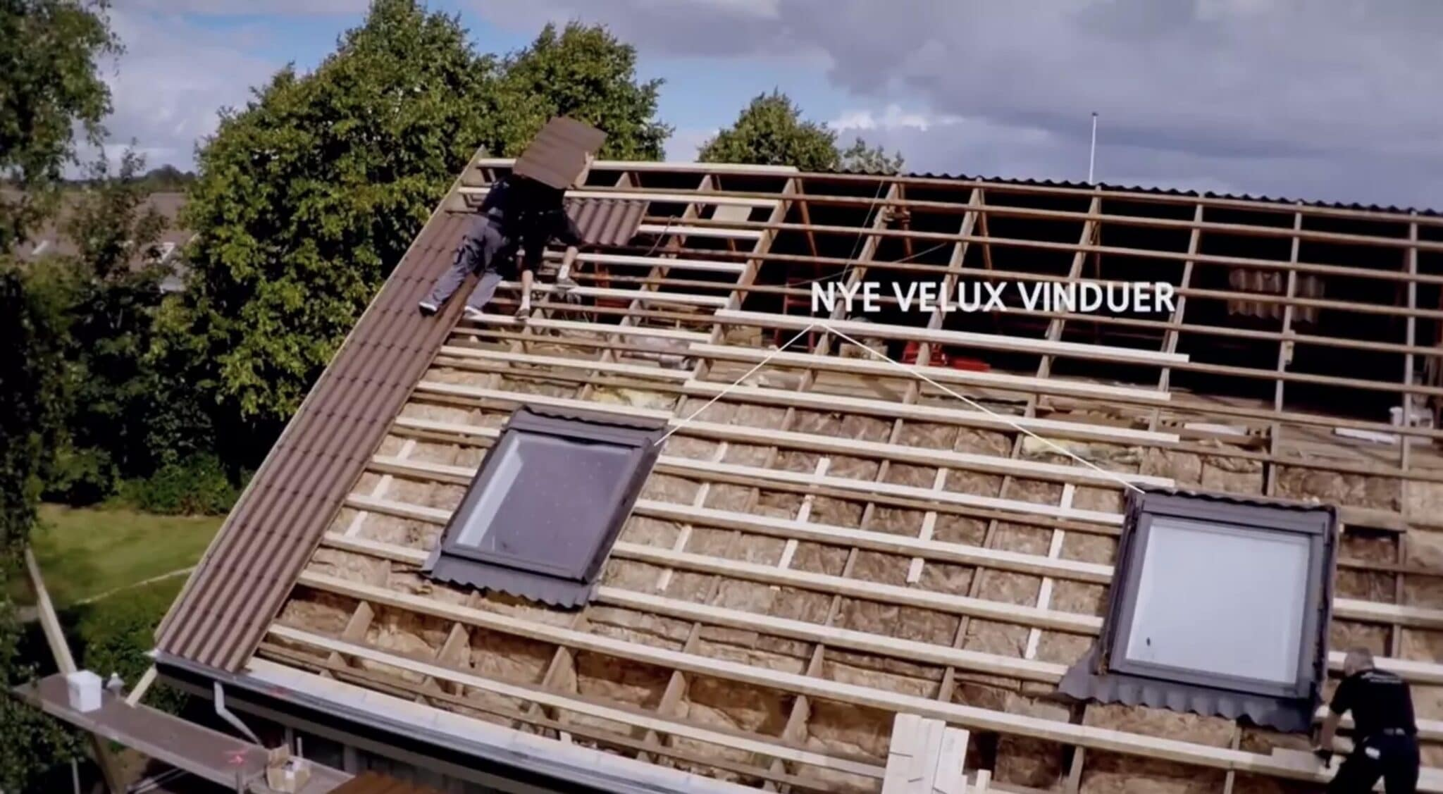 Nye Velux vinduer